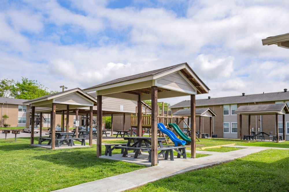 Playground and green lawn at Maple Creek in Nashville, Tennessee