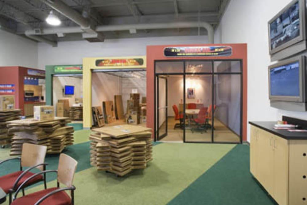 Inside of Grand Slam Self Storage in St. Louis, Missouri