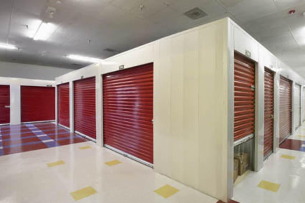 Indoor storage units at Grand Slam Self Storage in St. Louis, Missouri