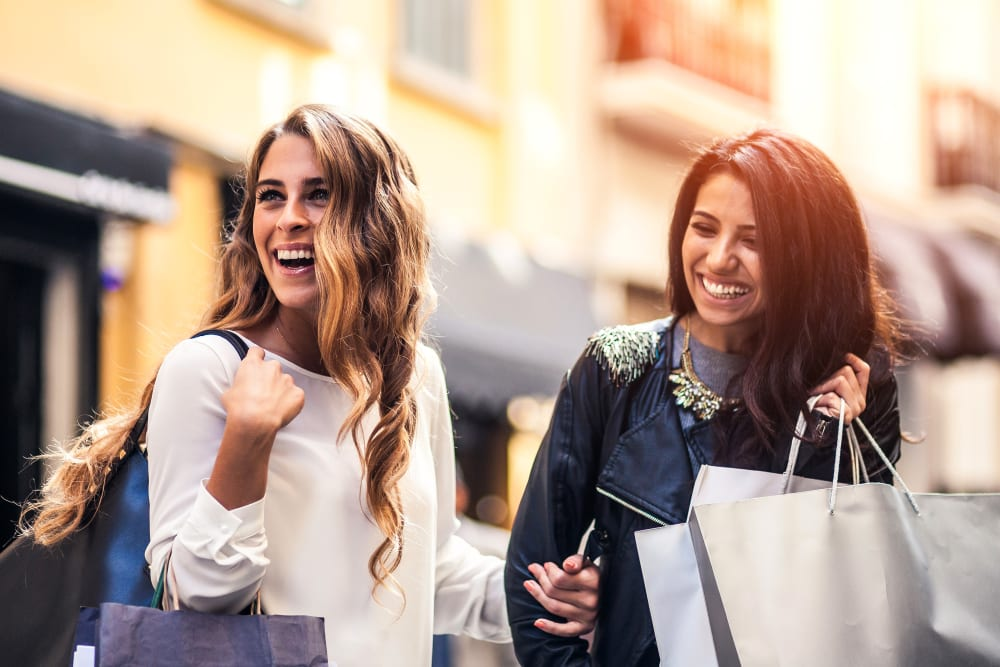 Women out on the town shopping near Amara at MetroWest in Orlando, Florida