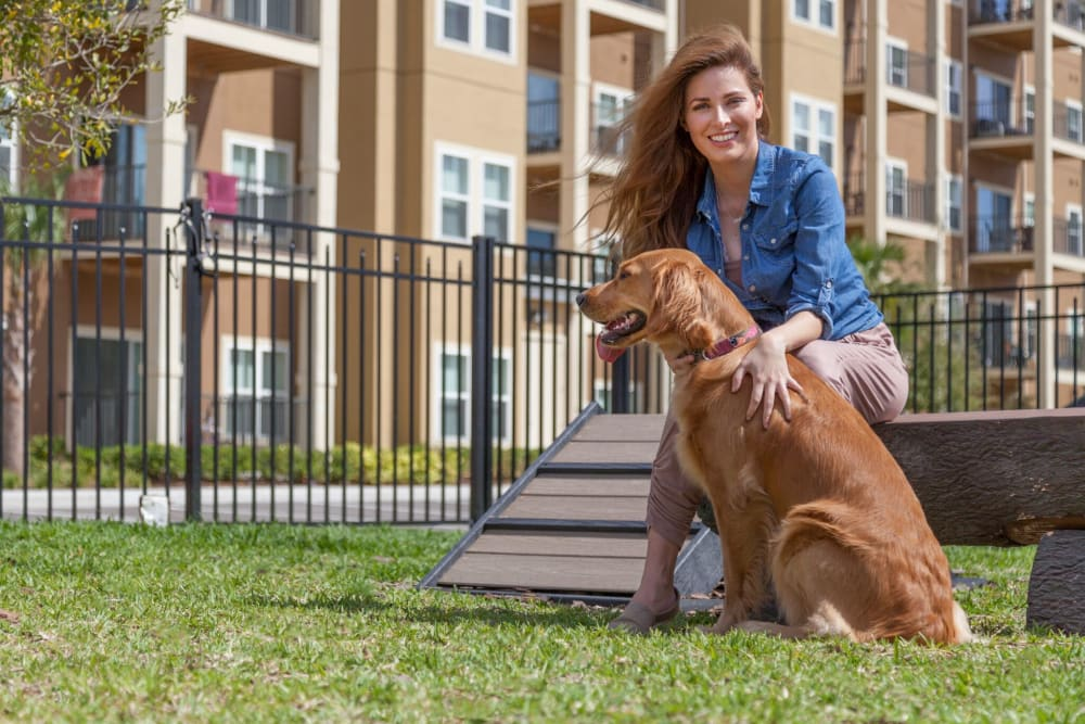 Model with dog at  in Riverview, FL