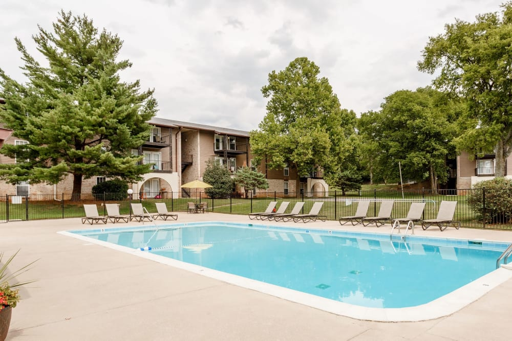 Swimming pool at The Village at Crestview in Madison, Tennessee