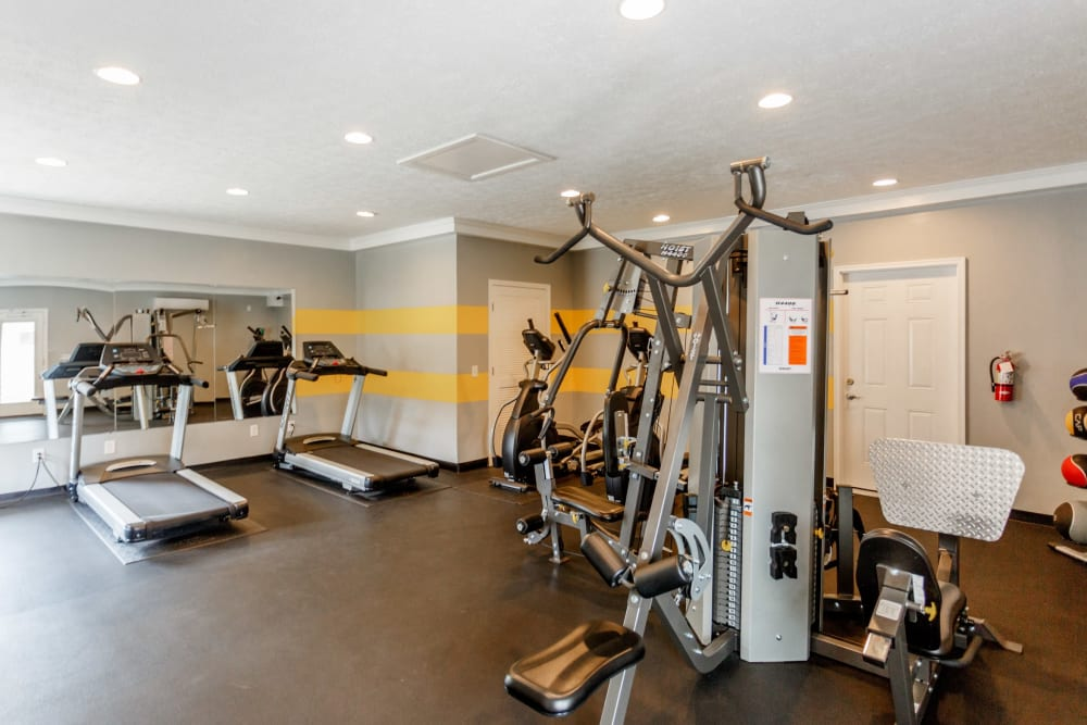 Workout room at The Village at Crestview in Madison, Tennessee