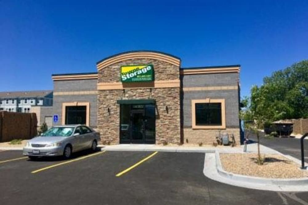 Store front at Towne Storage in Riverton, Utah