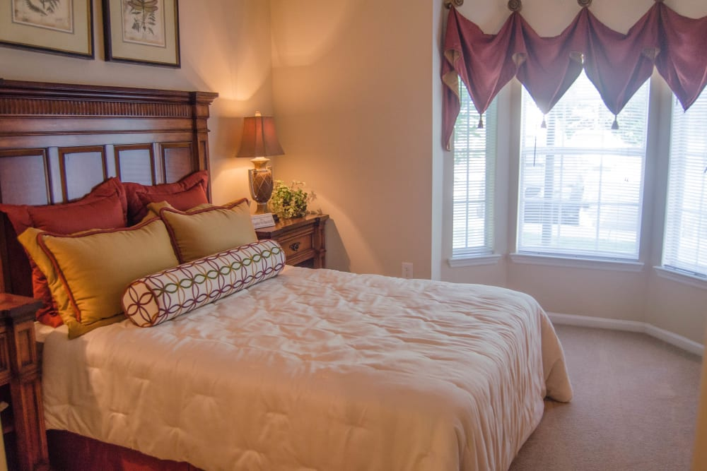 Spacious master bedroom at Lullwater at Saluda Pointe in Lexington, South Carolina