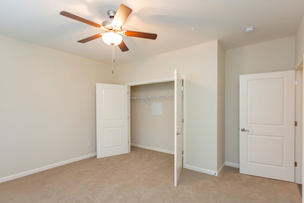 Bedroom with closet space at Madison Crest in Madison, Tennessee
