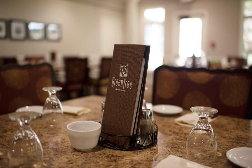 Dining menu at GreenTree At Westwood in Columbus, Indiana