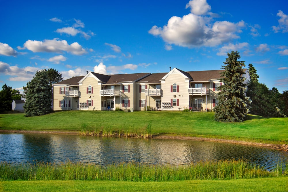 1820 South Apartments is located next to a pond in Mount Pleasant, Michigan.