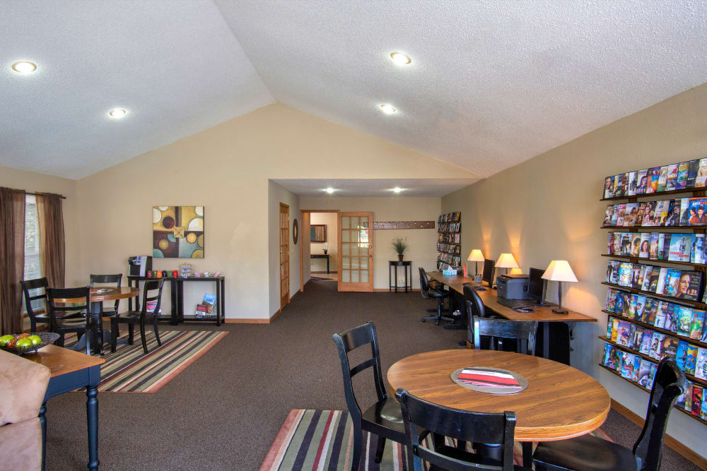 Clubhouse with movie rentals at Country Place in Mount Pleasant, Michigan.