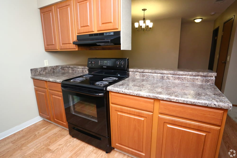 Spacious kitchens at Country Place in Mount Pleasant, Michigan.