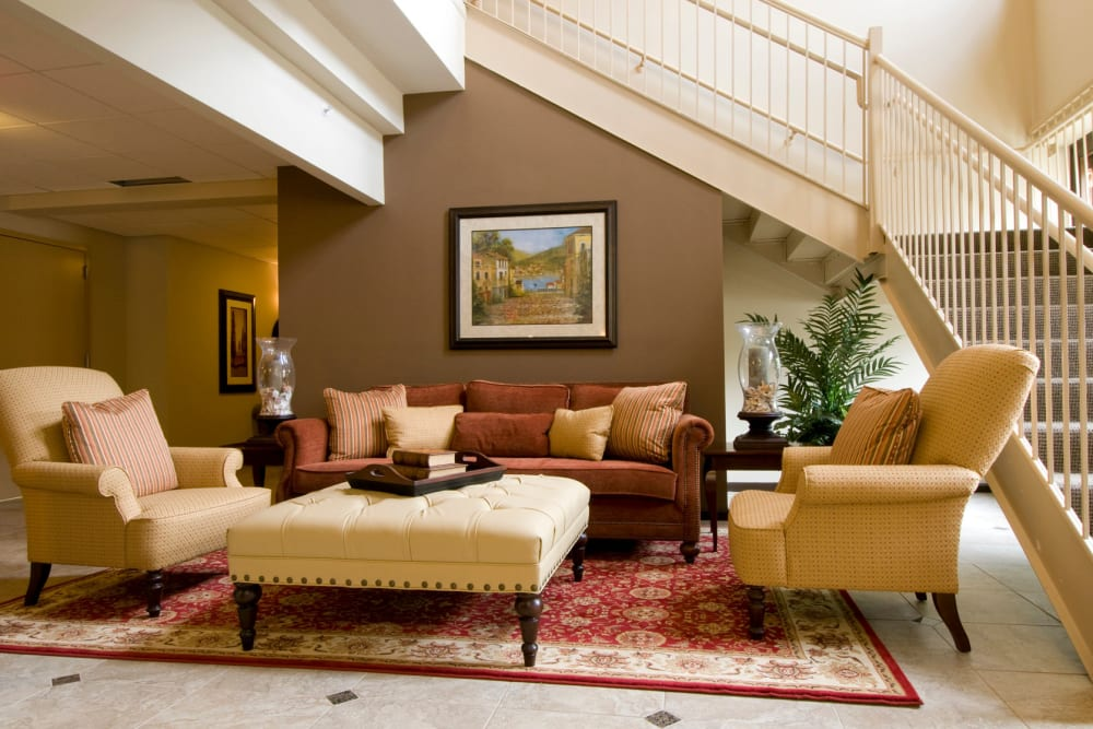 Cozy indoor lounge at Park Lane at Sea View in Staten Island, New York