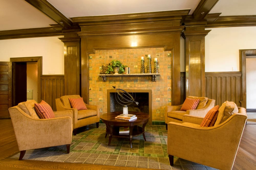 Indoor fireplace at Park Lane at Sea View in Staten Island, New York