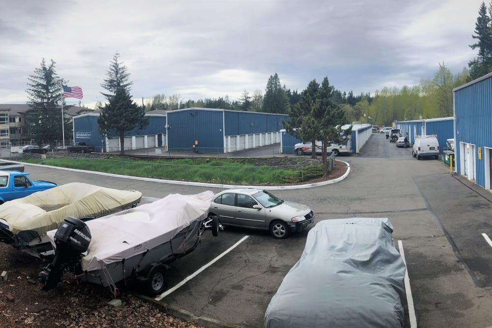 Boat and rv storage at Trojan Storage in Bothell, Washington