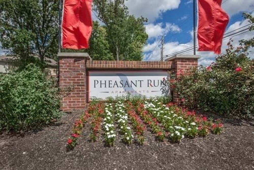 Front sign at Pheasant Run in Indianapolis, Indiana