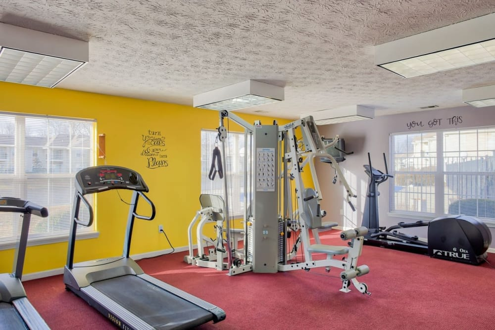 Fitness center at Pheasant Run in Indianapolis, Indiana.