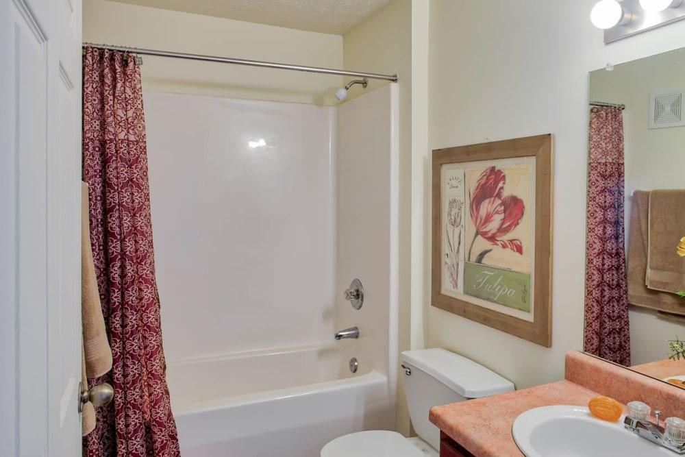 Bathroom at Pheasant Run in Indianapolis, Indiana
