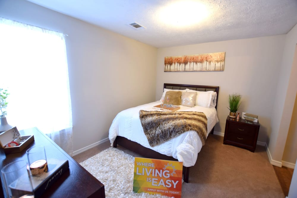 Spacious Bedrooms with large windows at Midsouth 301 in Jackson, Mississippi.