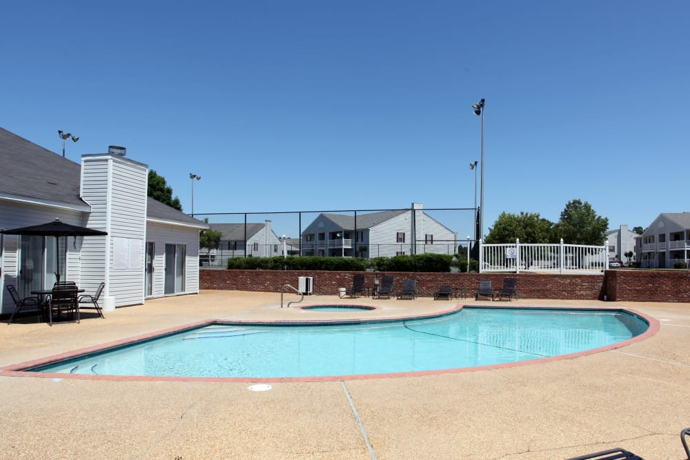 Sparking resident swimming pool at Midsouth 301 in Jackson, Mississippi.