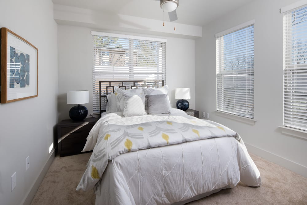 Luxury master bedroom at Leigh House in Raleigh, North Carolina