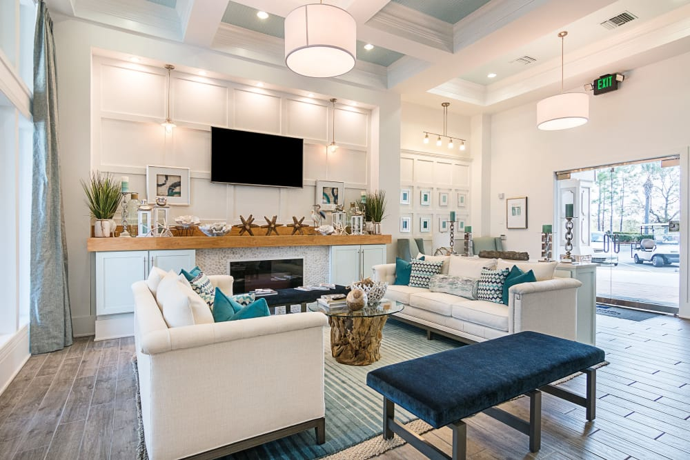 Model Living room at Landings at Four Corners in Davenport, Florida