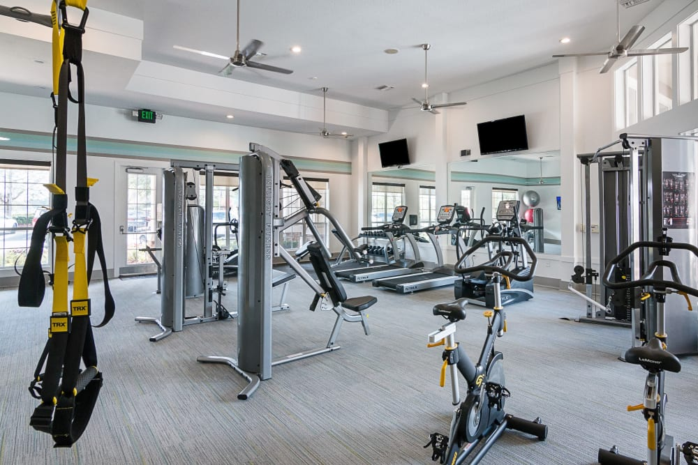 Fitness center at Landings at Four Corners in Davenport, Florida