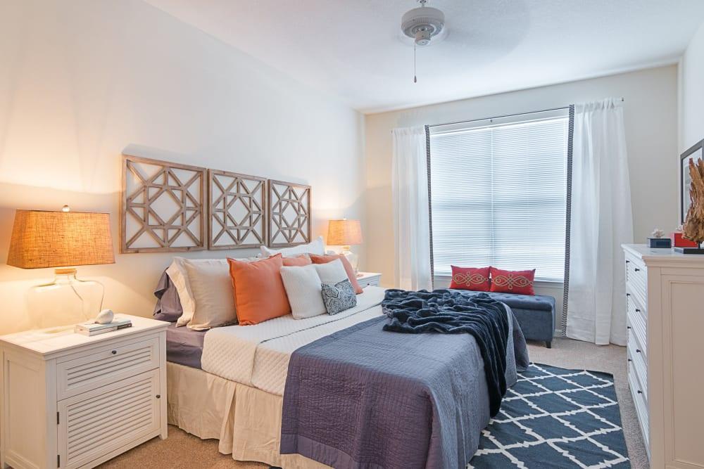 Model bedroom at Landings at Four Corners in Davenport, Florida