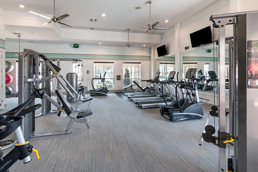 Workout room at Landings at Four Corners in Davenport, Florida