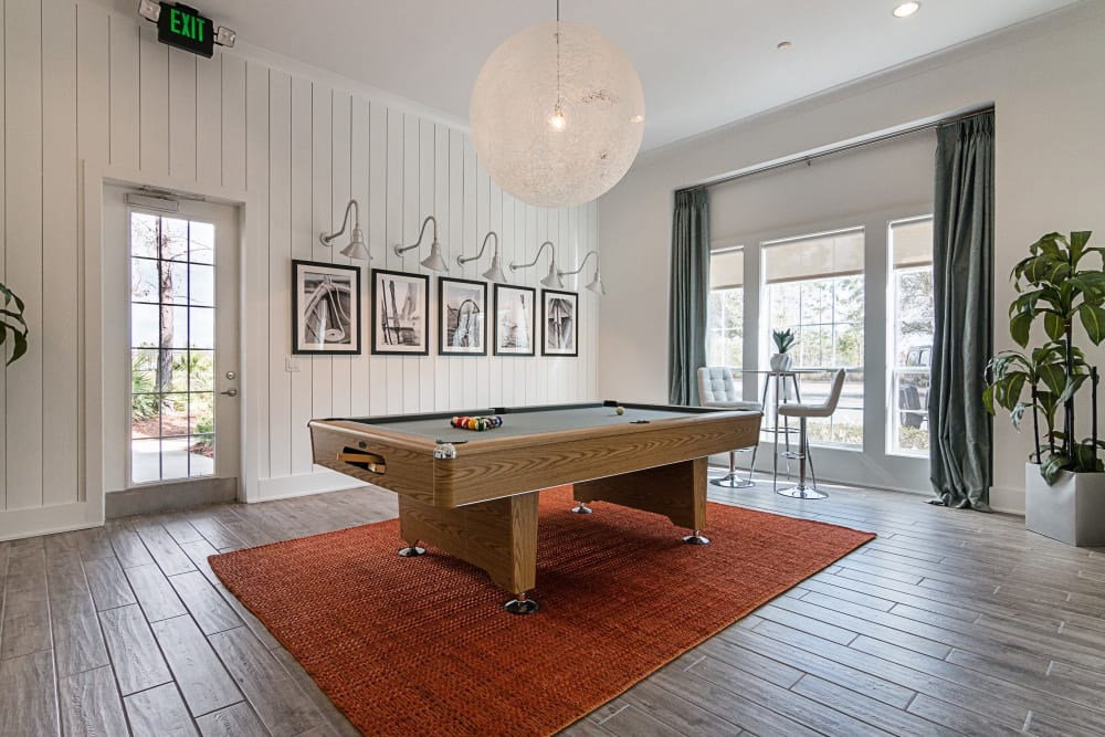 Billiard table in the clubhouse at Landings at Four Corners in Davenport, Florida