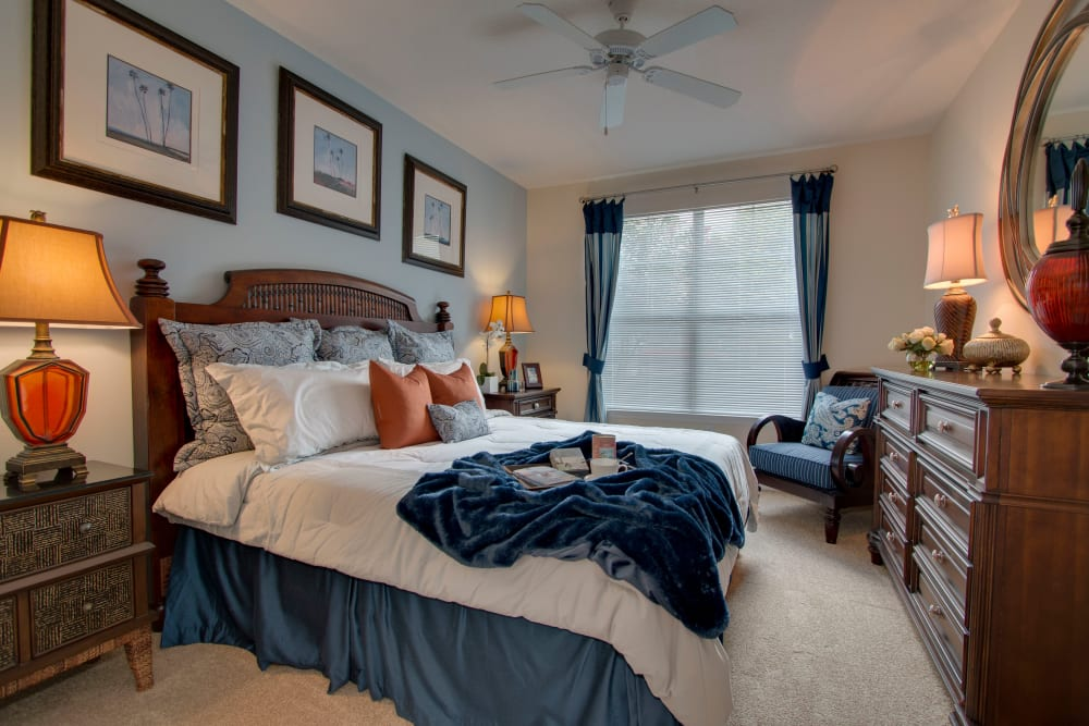 Master bedroom at Landings at Four Corners in Davenport, Florida
