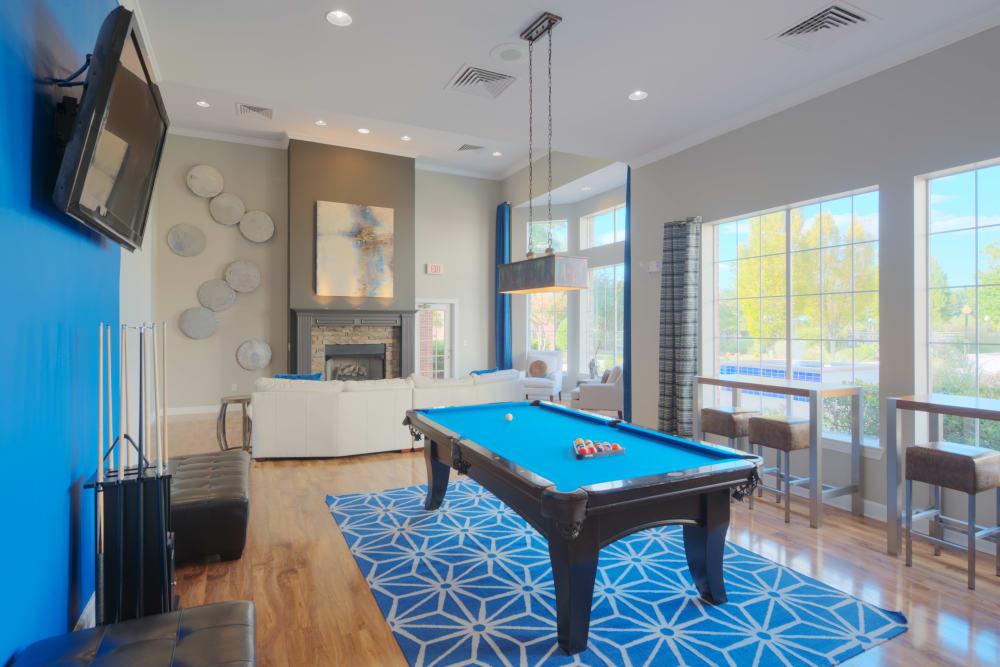 Pool table at Preston View in Morrisville, North Carolina