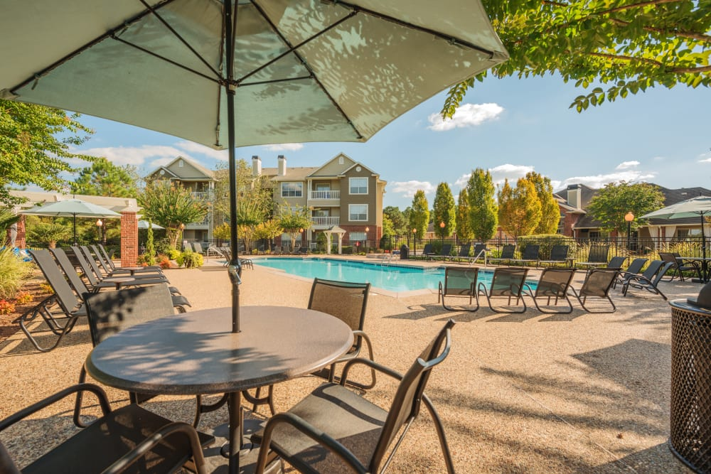 Patio furniture at Preston View in Morrisville, North Carolina