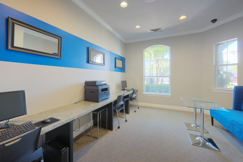 Business center at Preston View in Morrisville, North Carolina