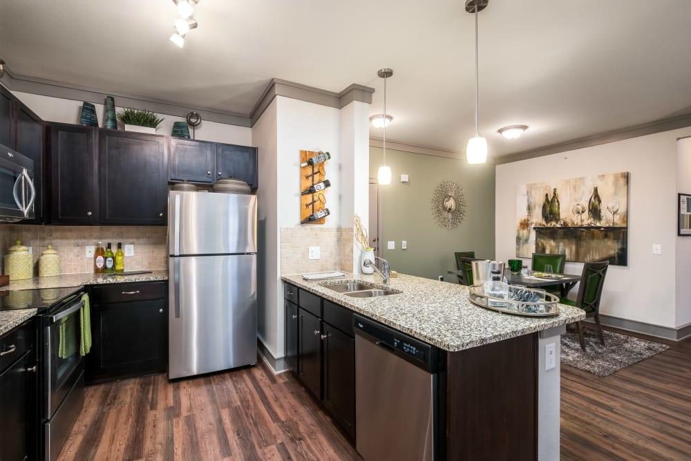 Model Kitchen at Sorrel Phillips Creek Ranch in Frisco, Texas