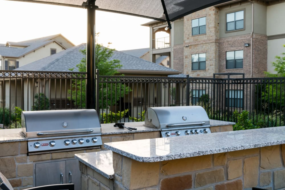 Outdoor grills at Sorrel Phillips Creek Ranch in Frisco, Texas