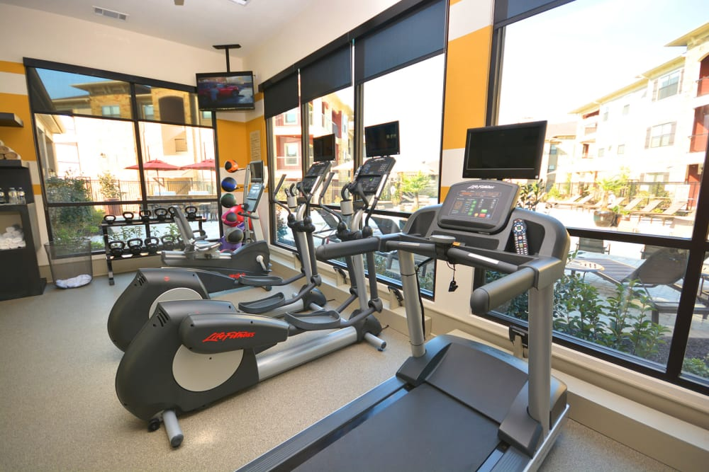 Luxury fitness center at The Sovereign in Fort Worth, Texas