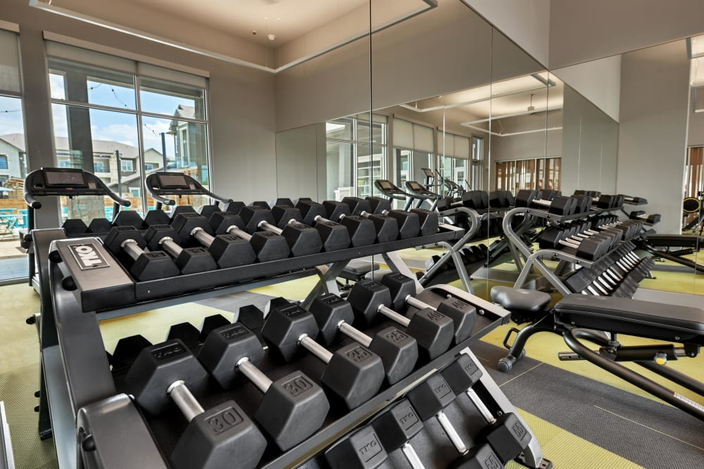 Apartments with a fitness center at Alta Tech Ridge