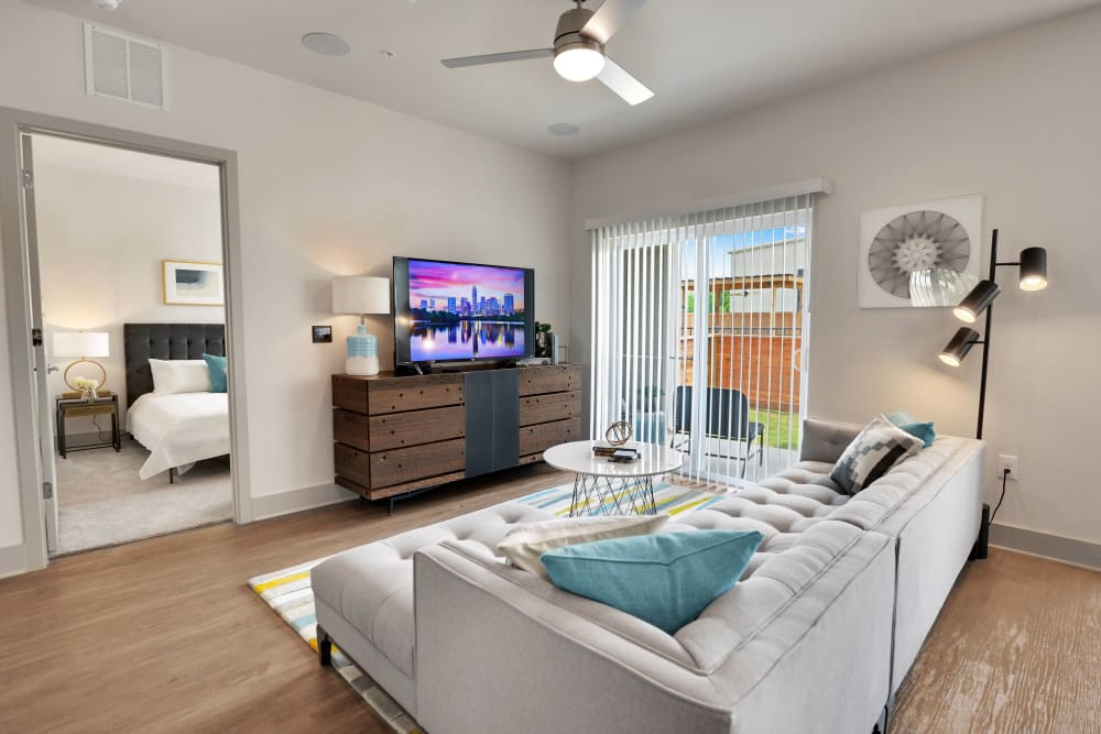 Modern apartments with a living room at Alta Tech Ridge