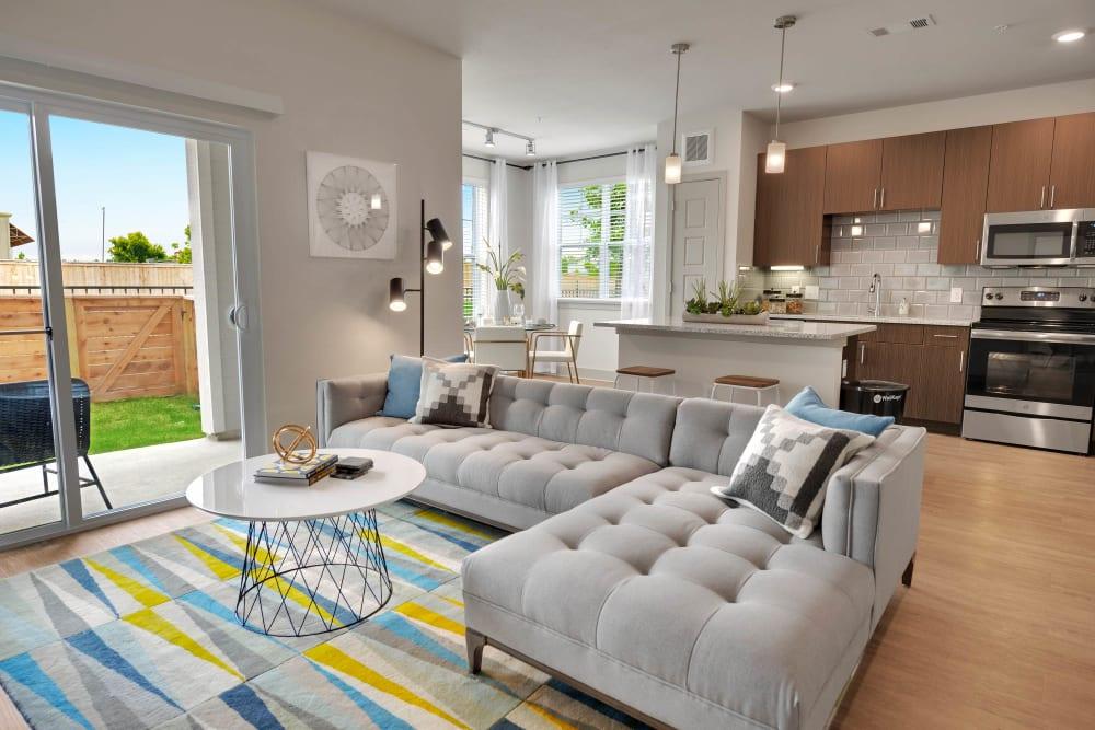 Modern apartments with hardwood floors at Alta Tech Ridge