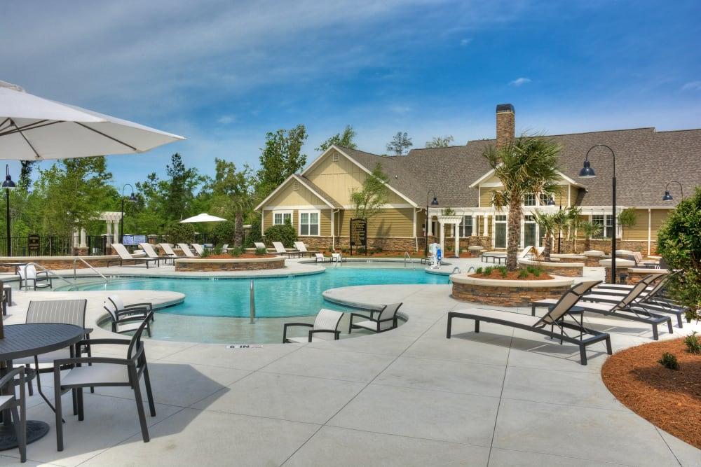 Resort-style swimming pool at Lullwater at Riverwood in Evans, Georgia