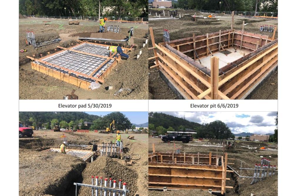 Construction photos of The Landing a Senior Living Community in Roseburg, Oregon