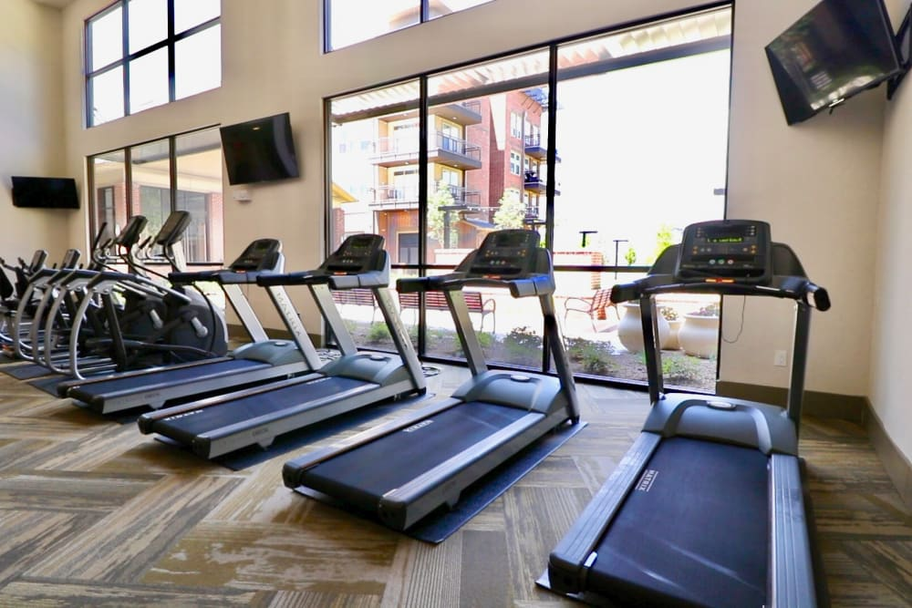 Fitness equipment at Landing at Watermere Frisco in Frisco, Texas