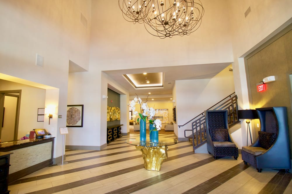 Luxurious lobby at Watermere at Frisco in Frisco, Texas