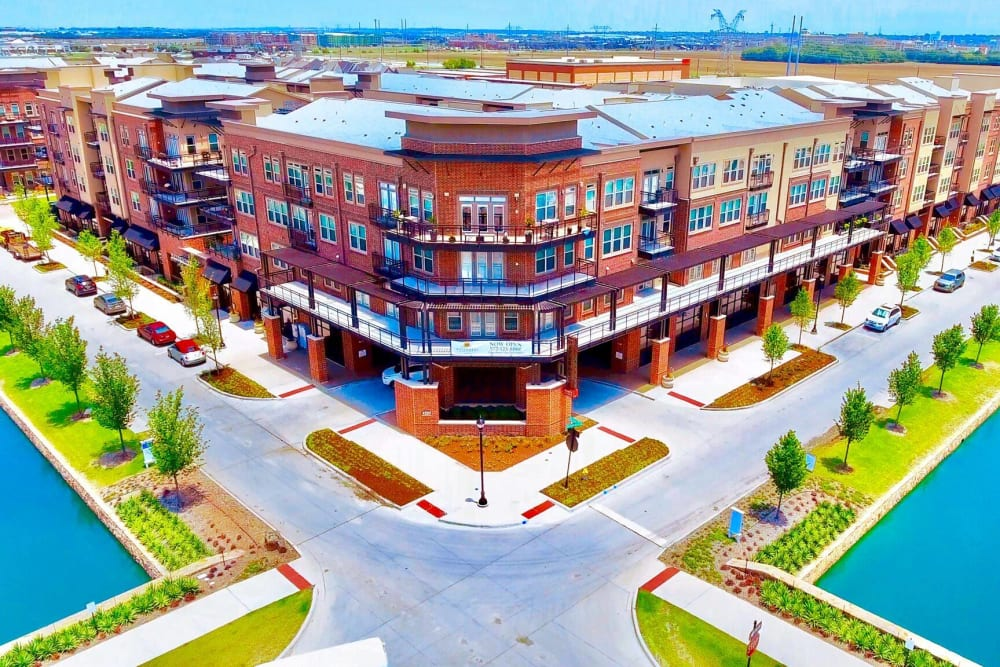 The campus at Landing at Watermere Frisco in Frisco, Texas