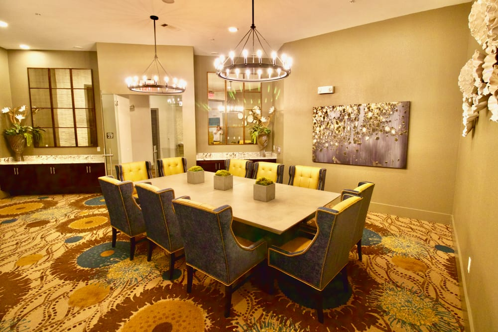 Dining room at Watermere at Frisco in Frisco, Texas