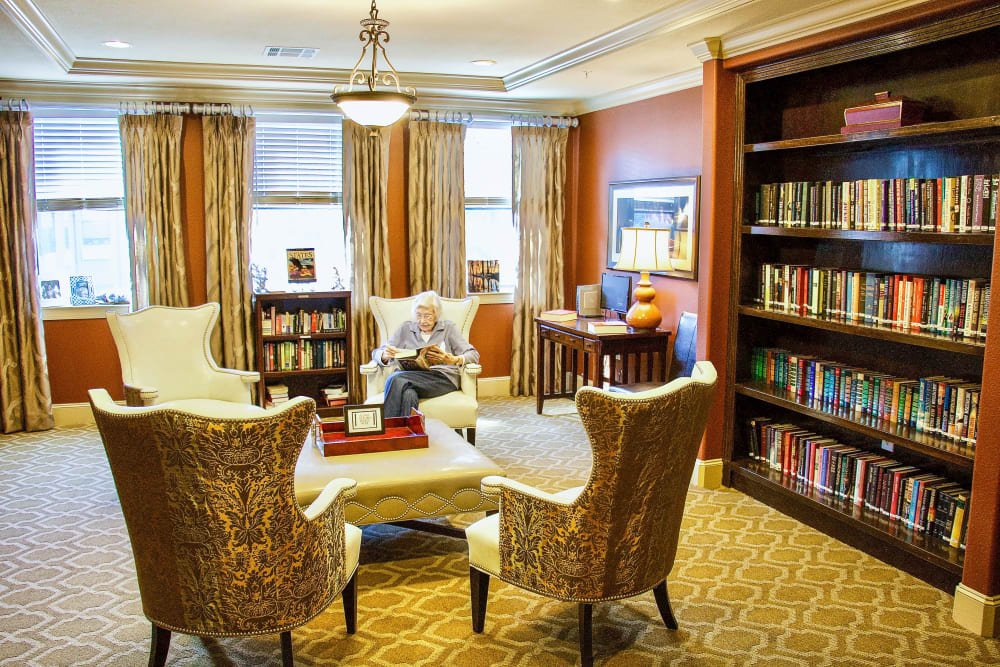 Library at an Integrated Senior Lifestyles community
