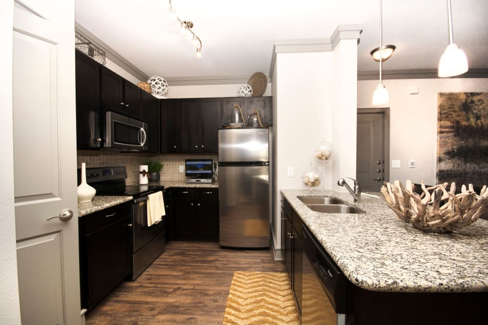 Kitchen layout at The Sovereign in Fort Worth, Texas
