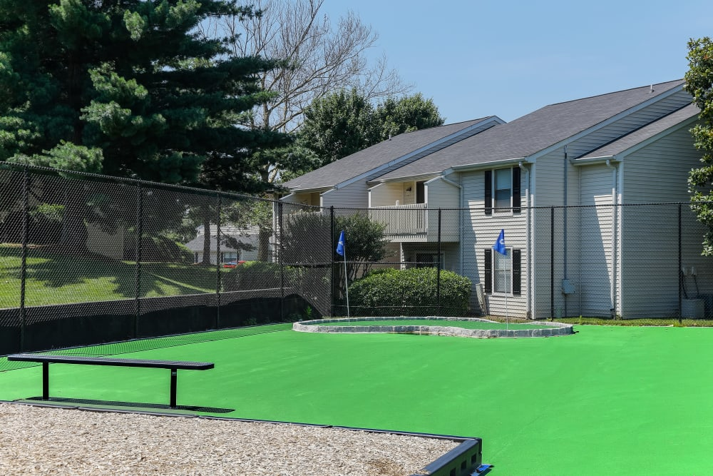 Putting Green at Sheffield Heights Apartment Homes in Nashville, Tennessee