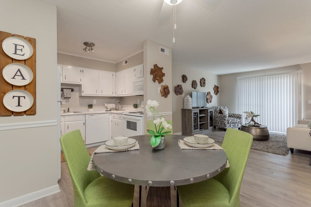 Dining & Living Room at Sheffield Heights Apartment Homes in Nashville, Tennessee