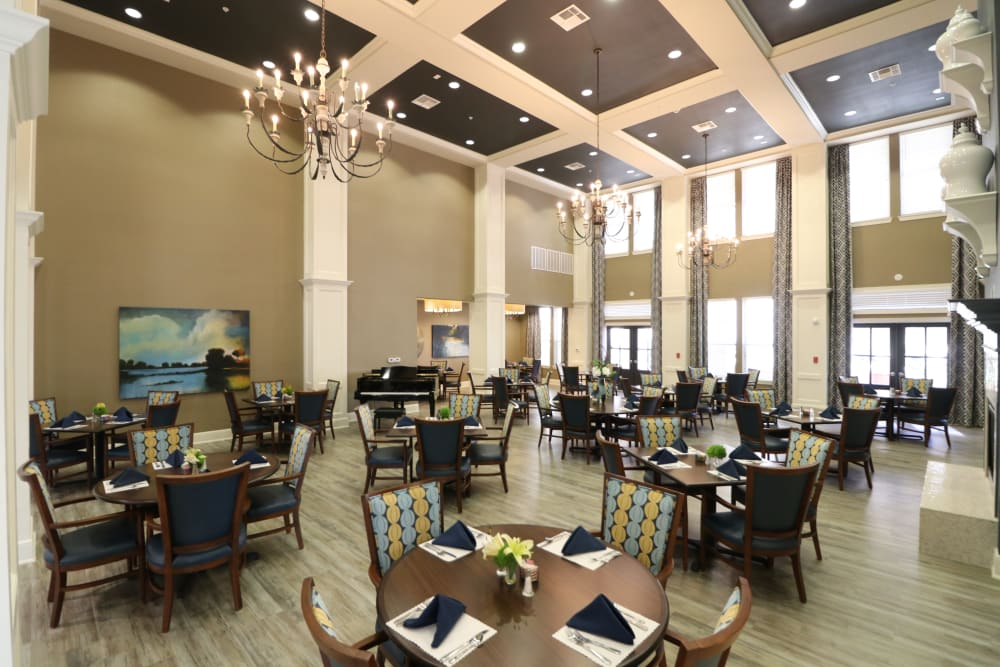 Lovely dining room at Landing at Watermere Frisco in Frisco, Texas