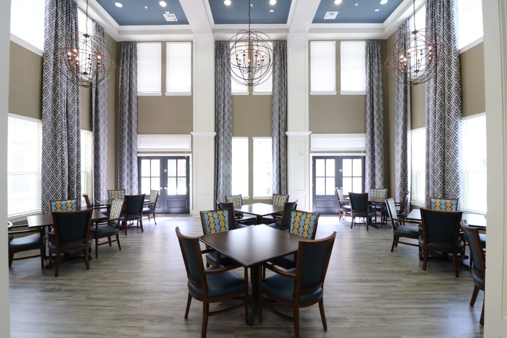 Dining hall at Landing at Watermere Frisco in Frisco, Texas